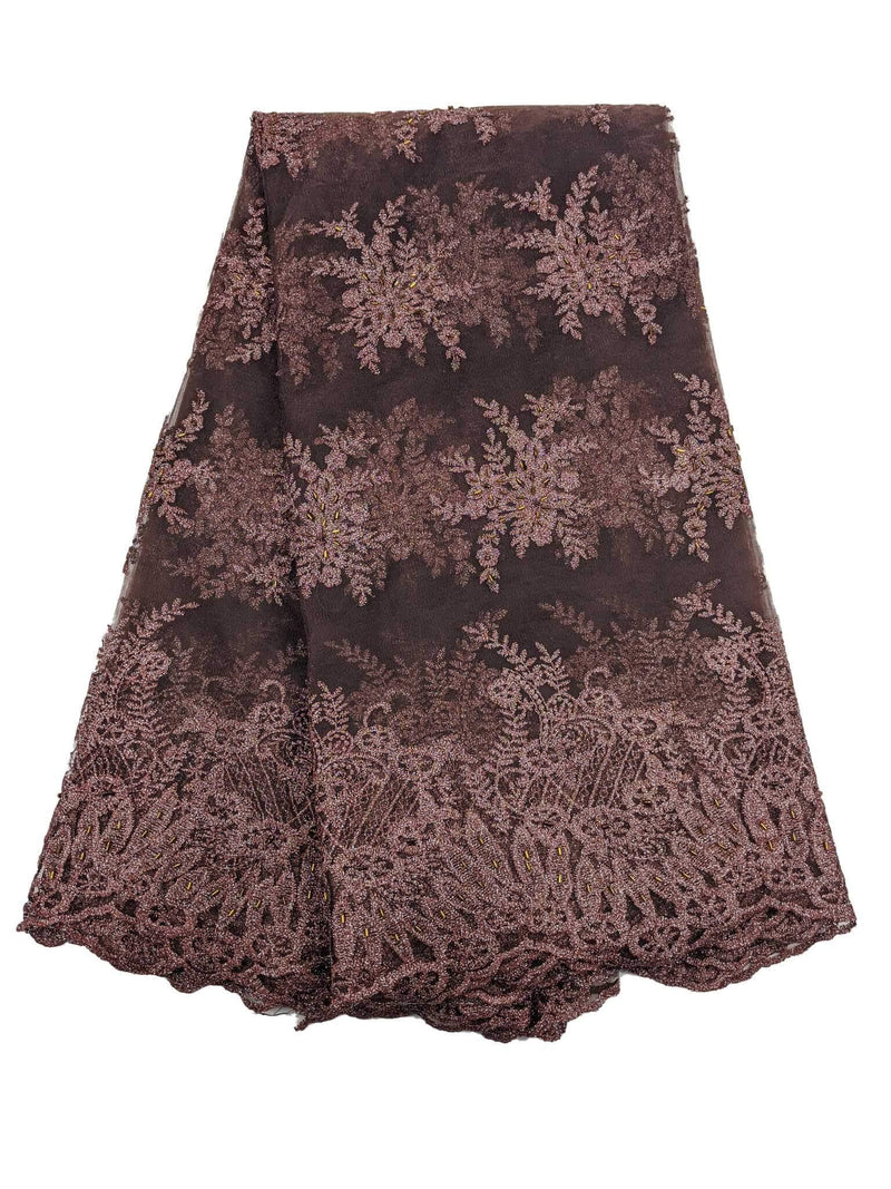 Brown French Net Lace