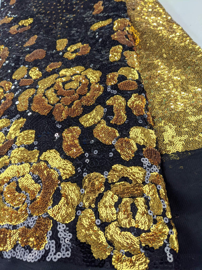 Black & Gold Sequence Lace