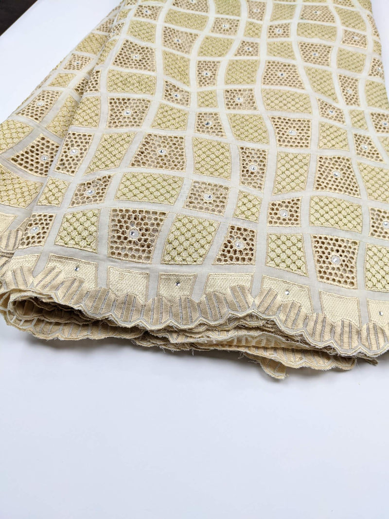 Shades of Gold Voile Lace