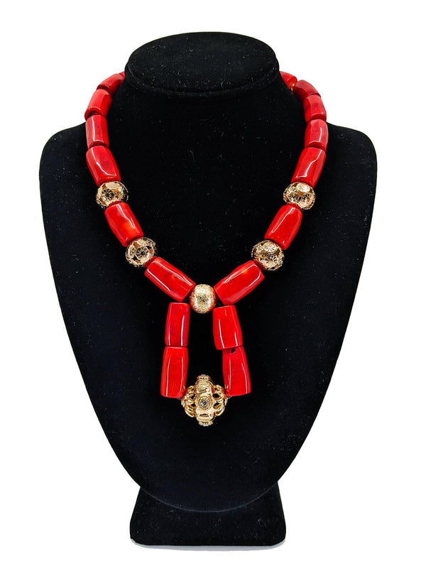Traditional Beads With Gold & Drop Neck