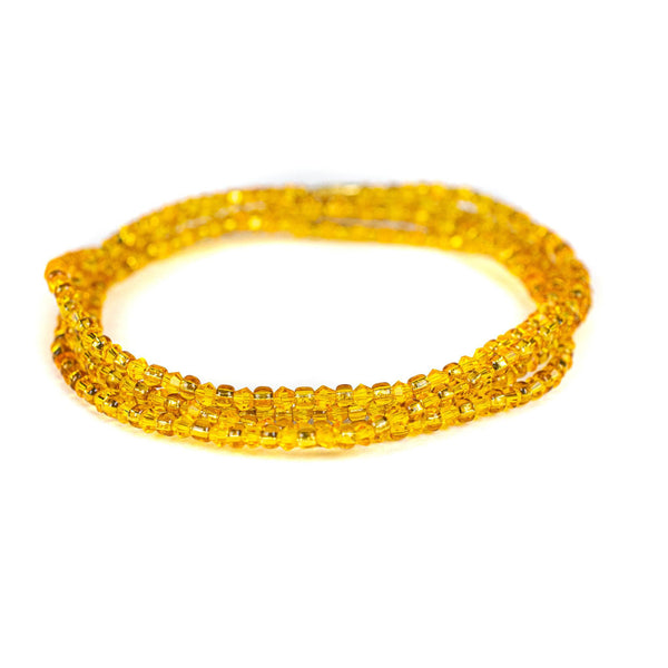 Yellow Shinny Clasp Waist Beads