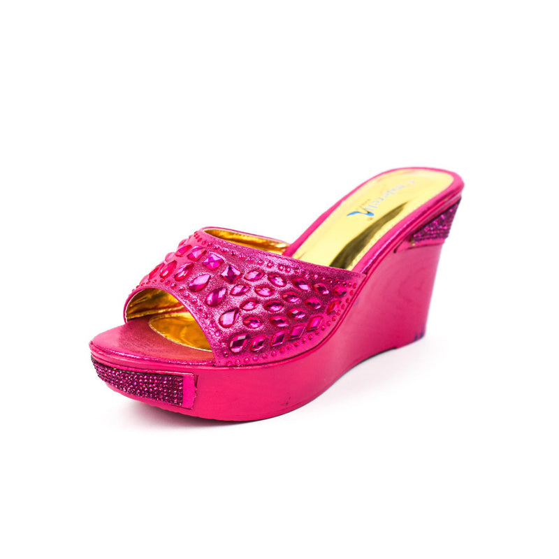 Pink Wedge Sandal Slippers