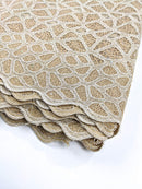 Gold Guipure/Net Lace