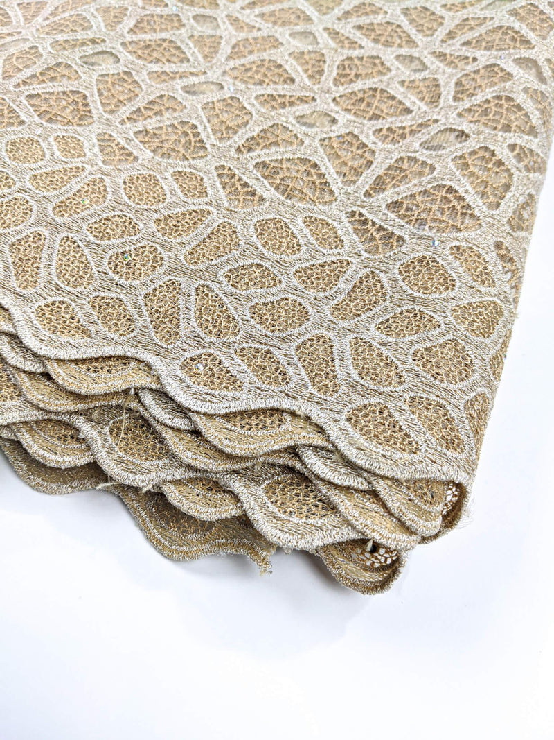 Gold Embroidery  Cotton Lace