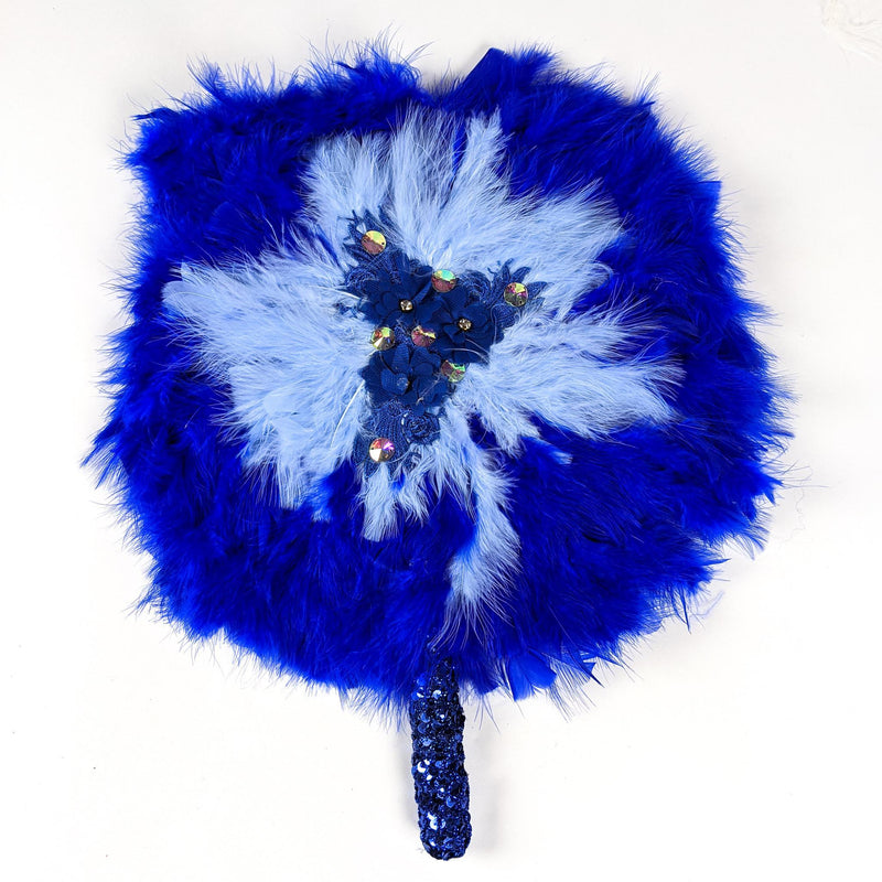 Blue Traditional Wedding Hand Fan