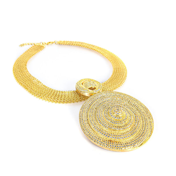Gold Spiral Necklace Sets