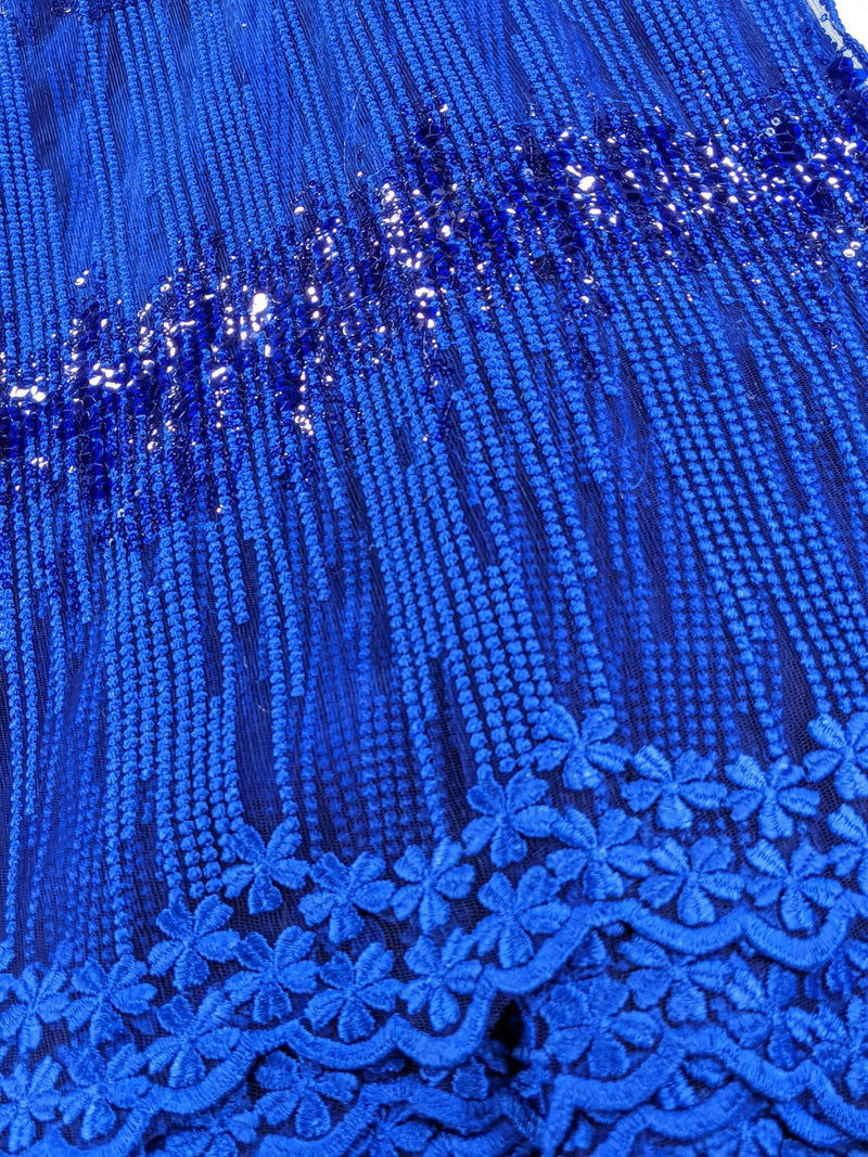 Blue Waterfall Net Lace