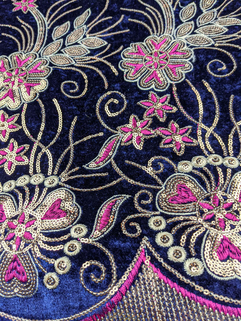 Blue & Pink George Fabric