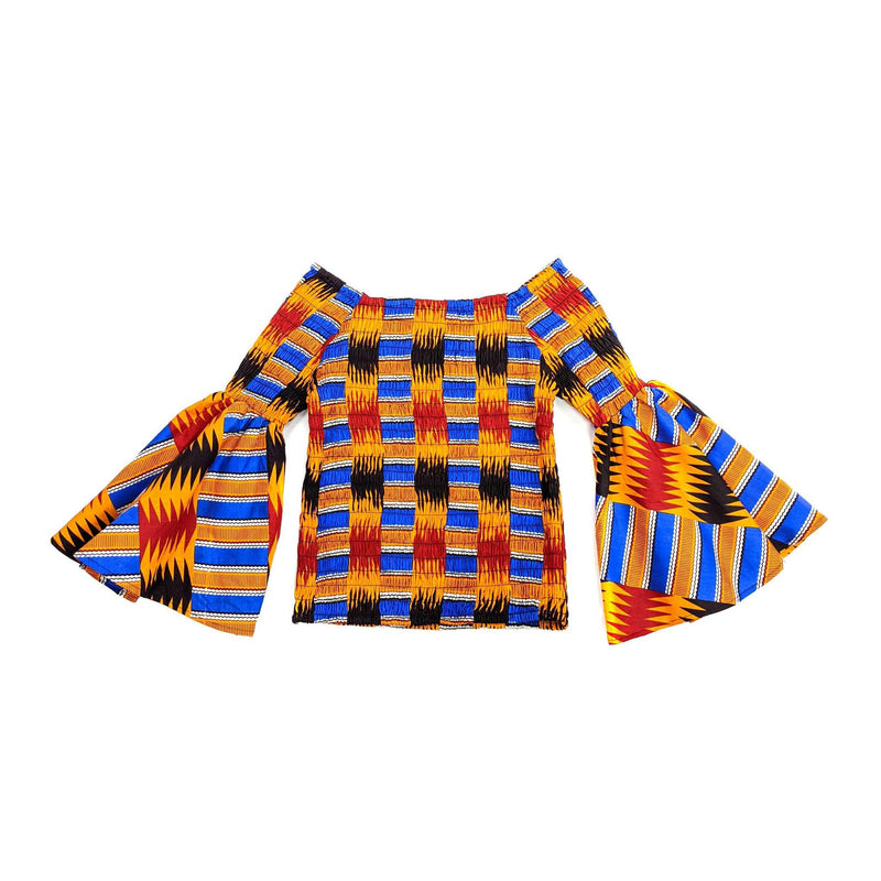 Kente Smoked Off-Shoulder Top