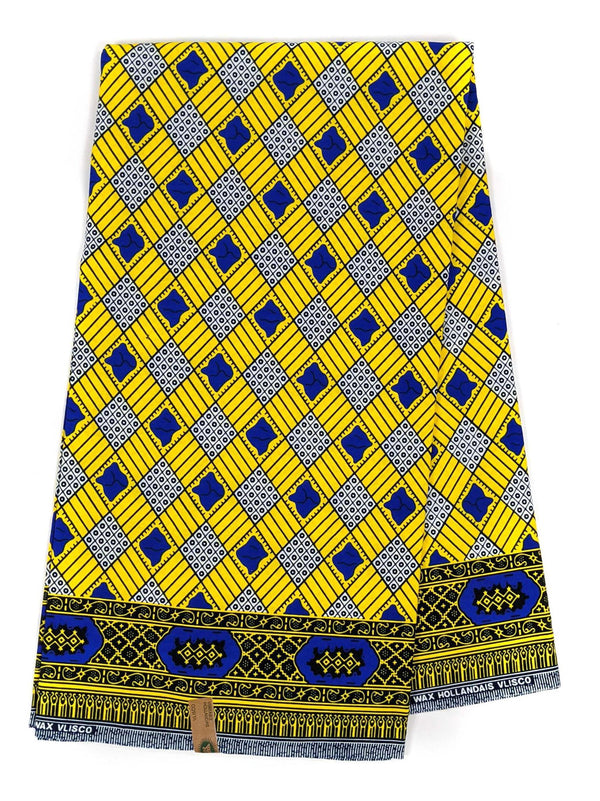 Yellow and Blue Ankara Wax Print