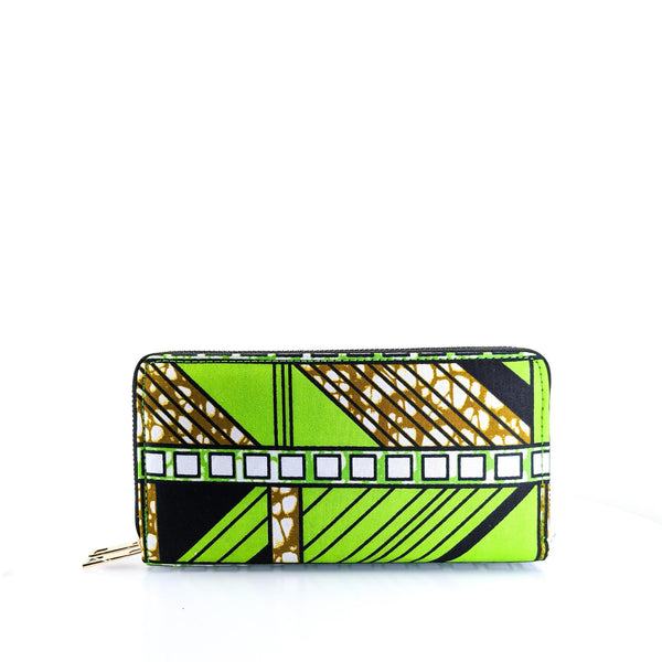 Ankara Print Dual Pocket Wallet