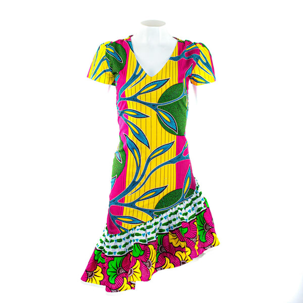 Ankara Slanted Dress