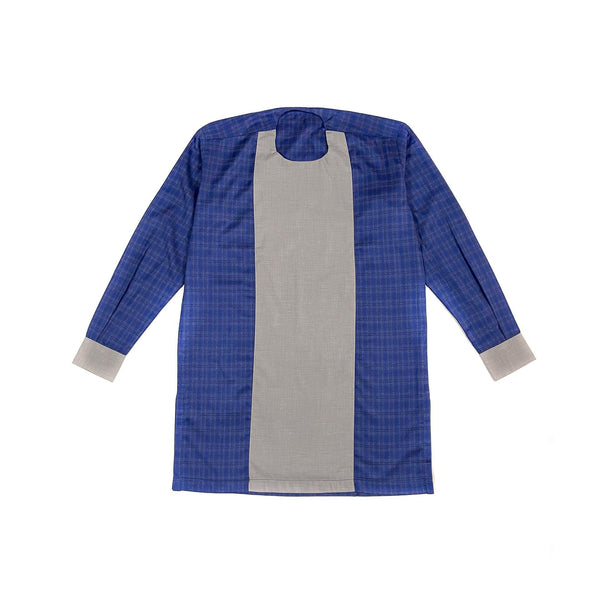 Blue & Grey Long Sleeve Linen Set
