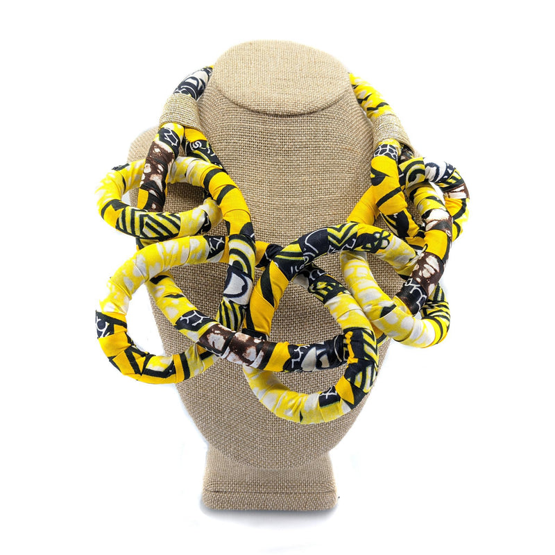 Yellow Bib Wax Chocker Necklace