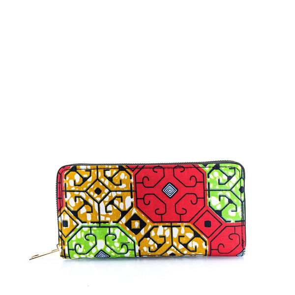 Ankara Print Single Pocket Wallet