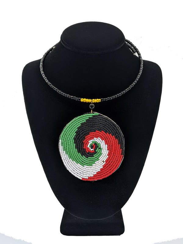 African Massai Pendant Necklace Set