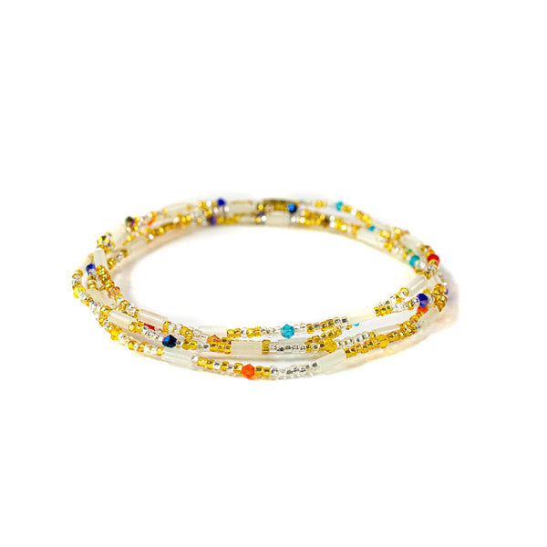 Gold Multicolored Clasp Waist Beads