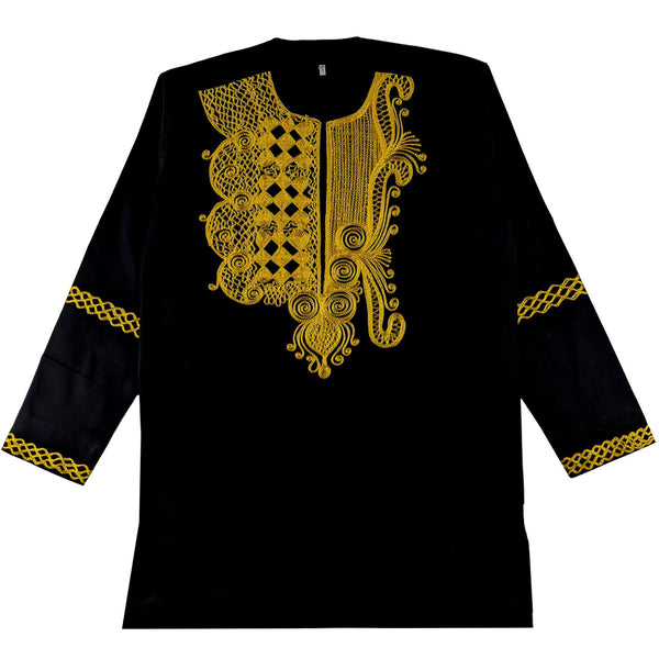 Black & Gold Men's Long-sleeve Top