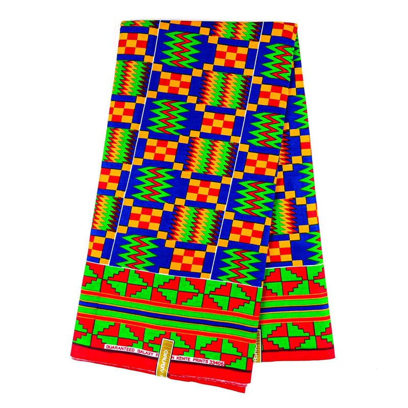 Obaakofo Mmu Man Kente Wax Print Fabric - 6 Yards