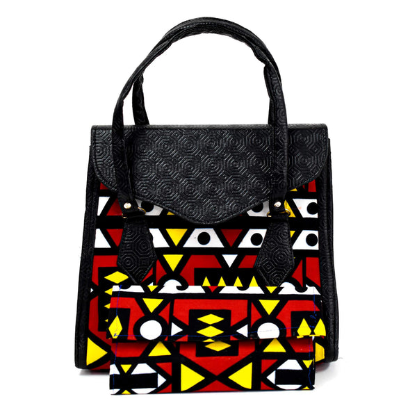 Multicolored Ankara Bag Set