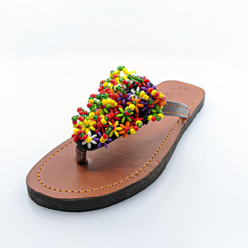 Multi-Color Beaded Shoes