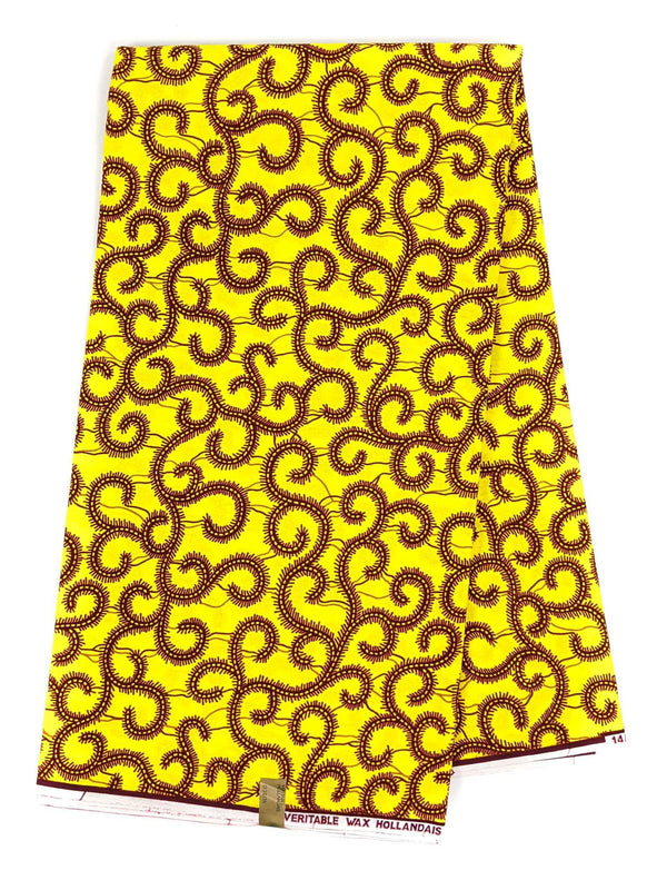 Yellow Ankara Wax Print