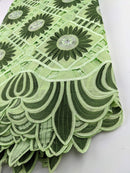 Shades Of Green Handcut Cotton   Lace