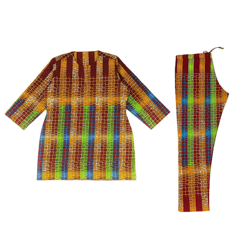 Multicolored Ankara Short Sleeve Set