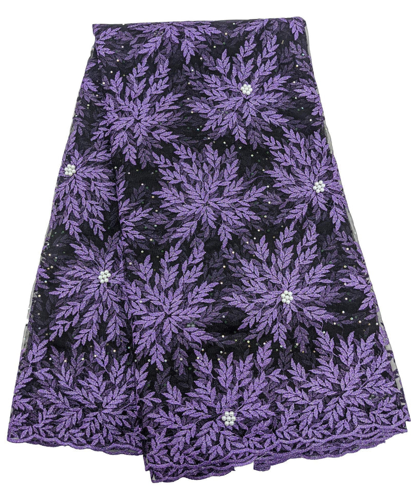 Purple French Lace