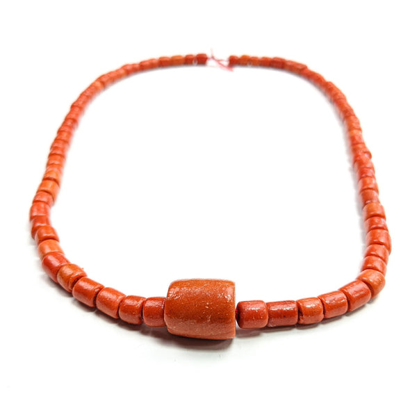 Kids African Necklace Coral Beads