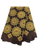 Brown, Orange & Gold Cotton Lace