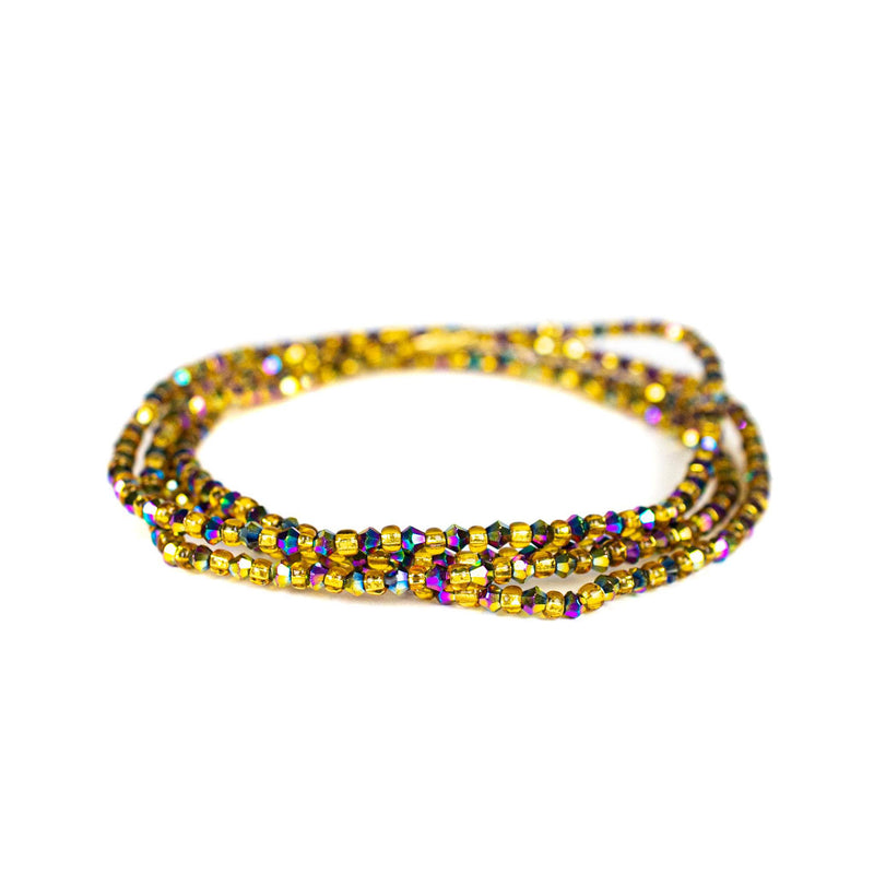 Chrome Shinny Clasp Waist Beads