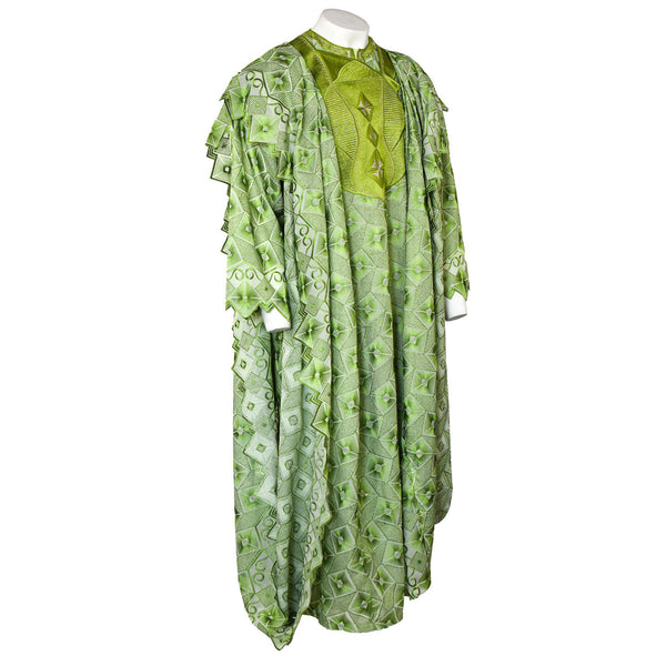 Green Lace Agbada 3pc Set