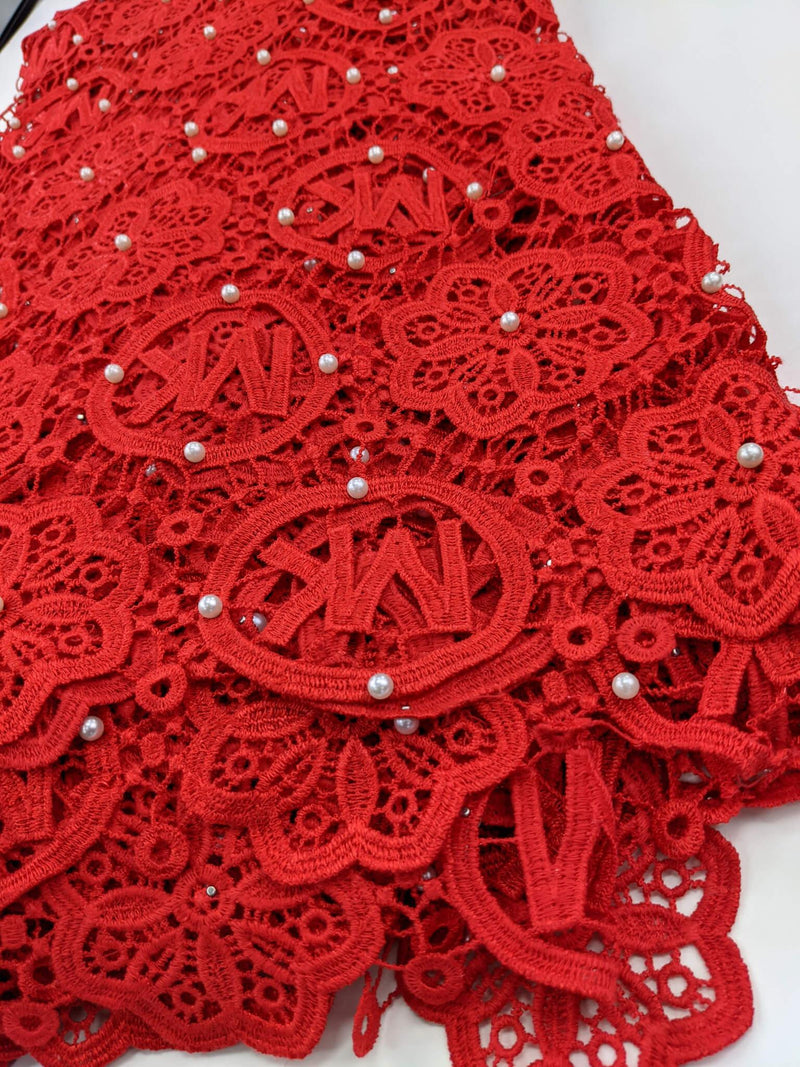 Red Dry Lace