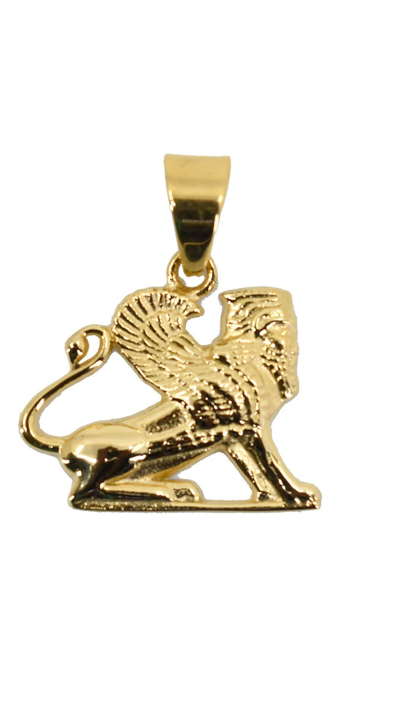 Gold Egyptian Sphinx Pendant Chain
