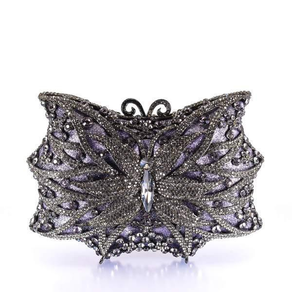 Purple Butterfly Clutch Purse
