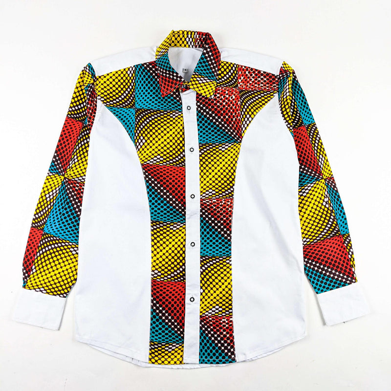 African Wax Print Button Up