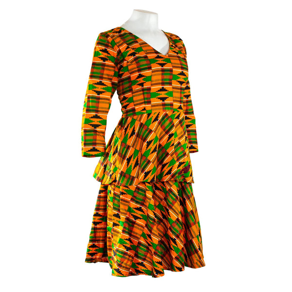 Kente Double Peplum Dress