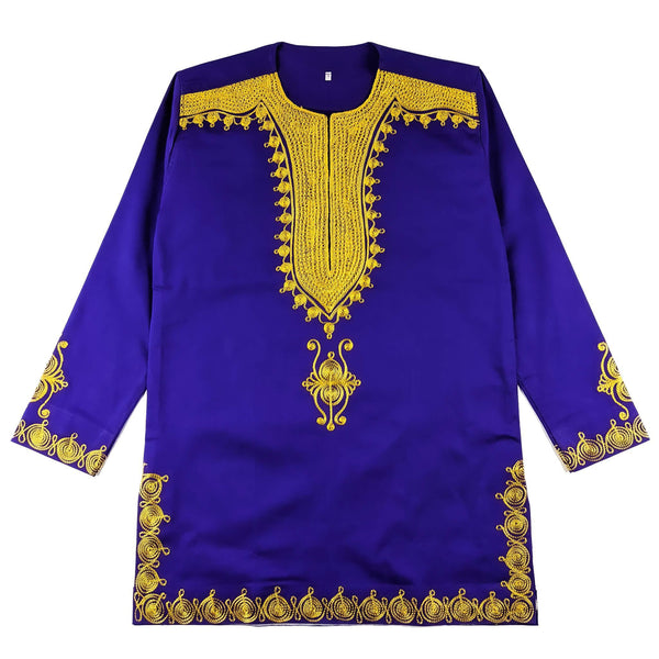 Purple & Gold Men's Long-sleeve Top