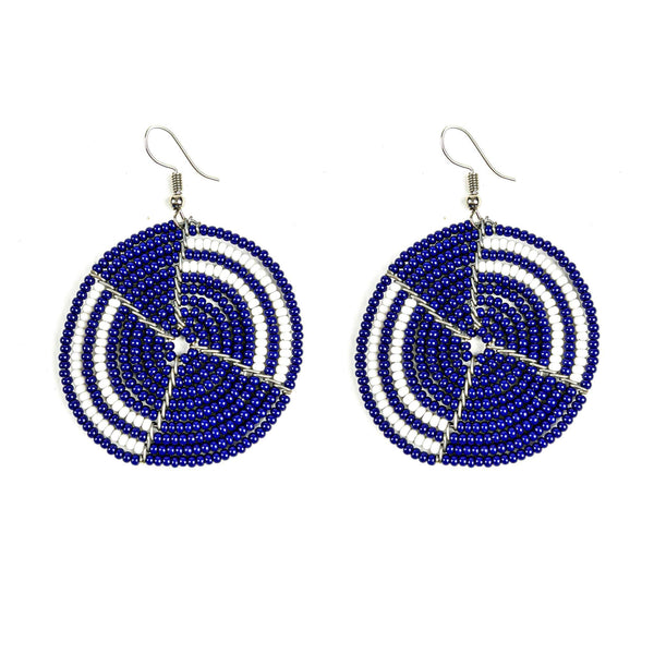 Circular Maasai Beaded Earrings