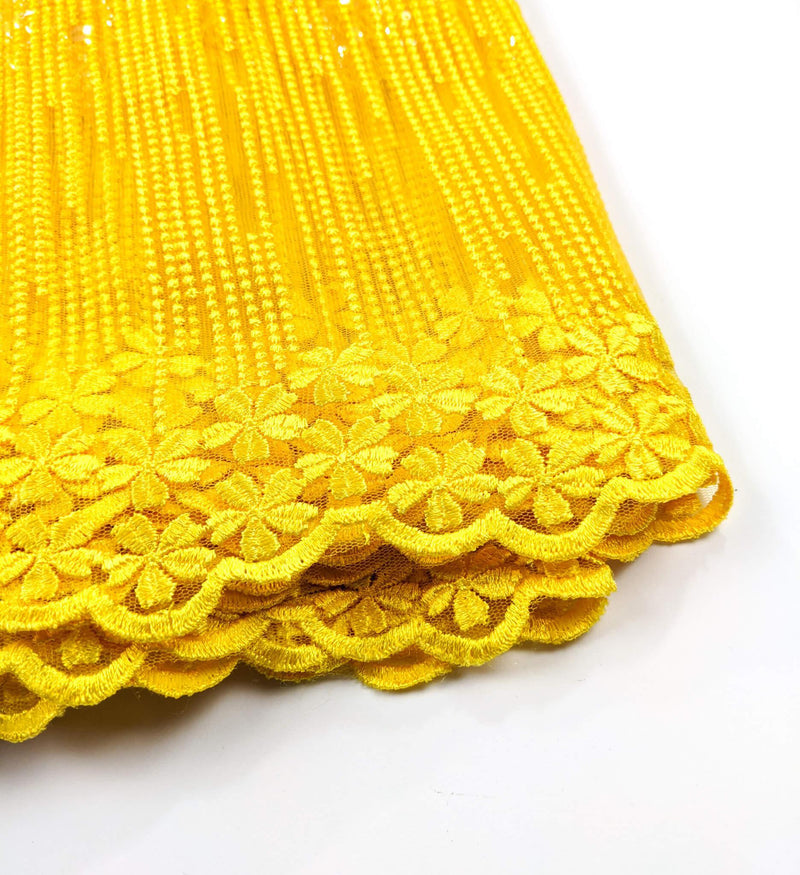 Yellow Net Lace