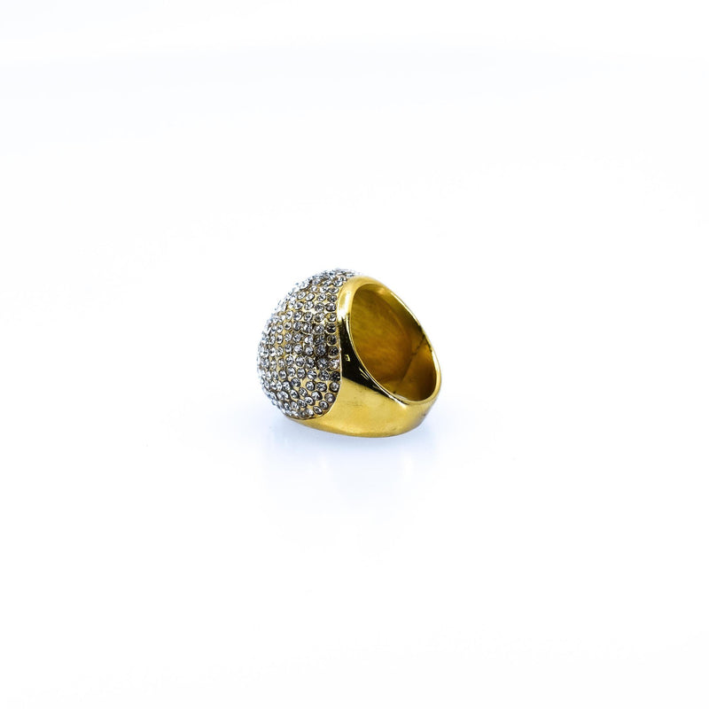 Contemporary Style Wide Concave Women's Ring