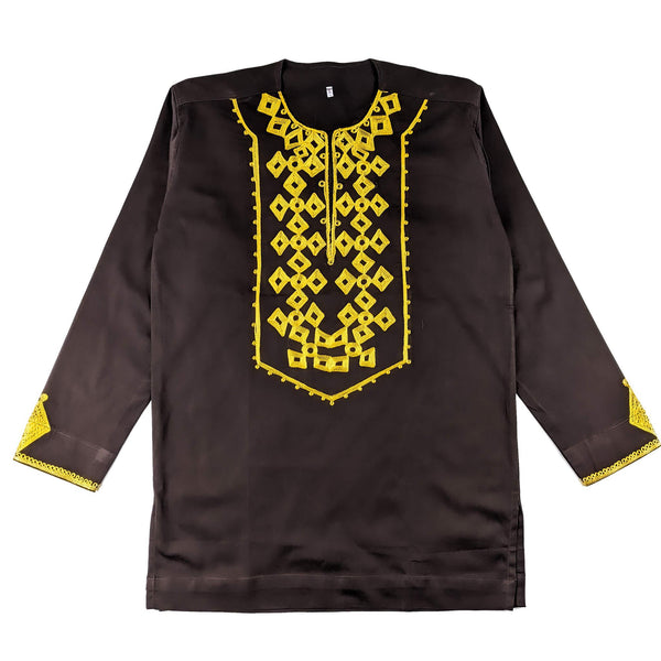 Brown Men's Long-sleeve Top