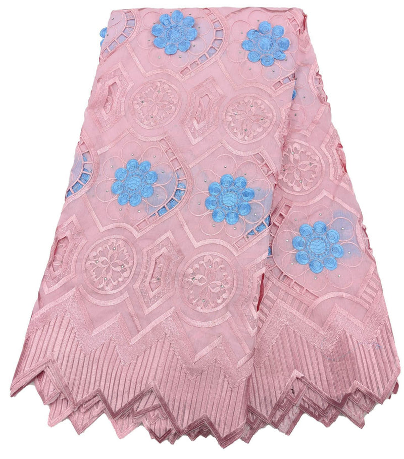 Pink & Blue Cotton Lace