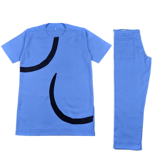 Blue Short Sleeve Set