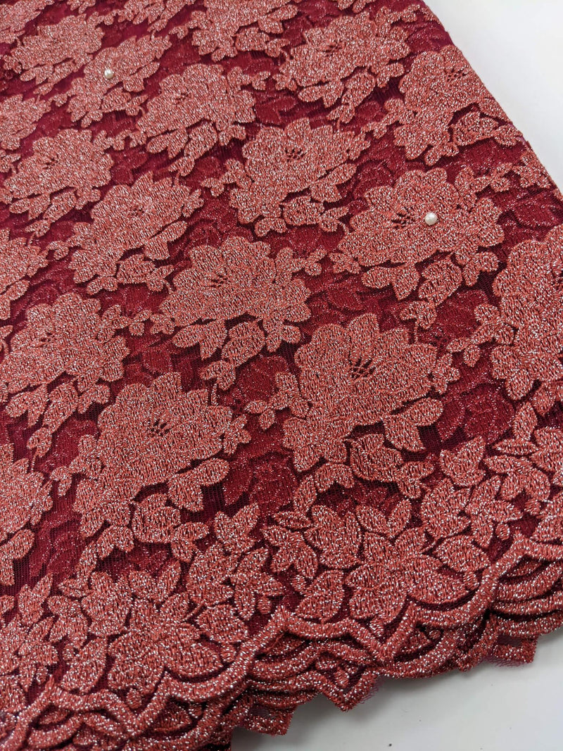 Two-toned Wine French Lace
