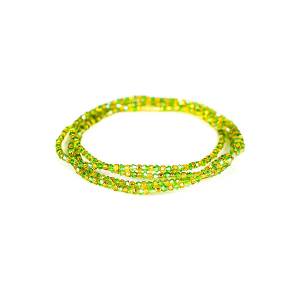 Green Shinny Clasp Waist Beads