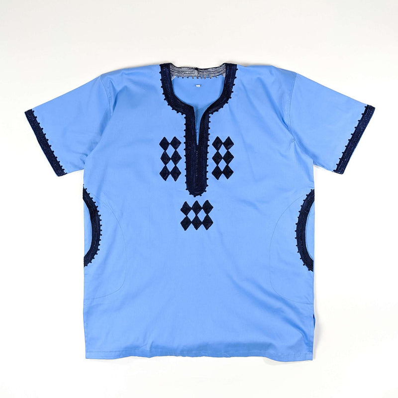 Men's Embroidery Short Sleeve Top