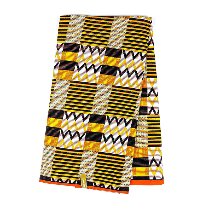 Kente Wax Print Fabric - 6 Yard