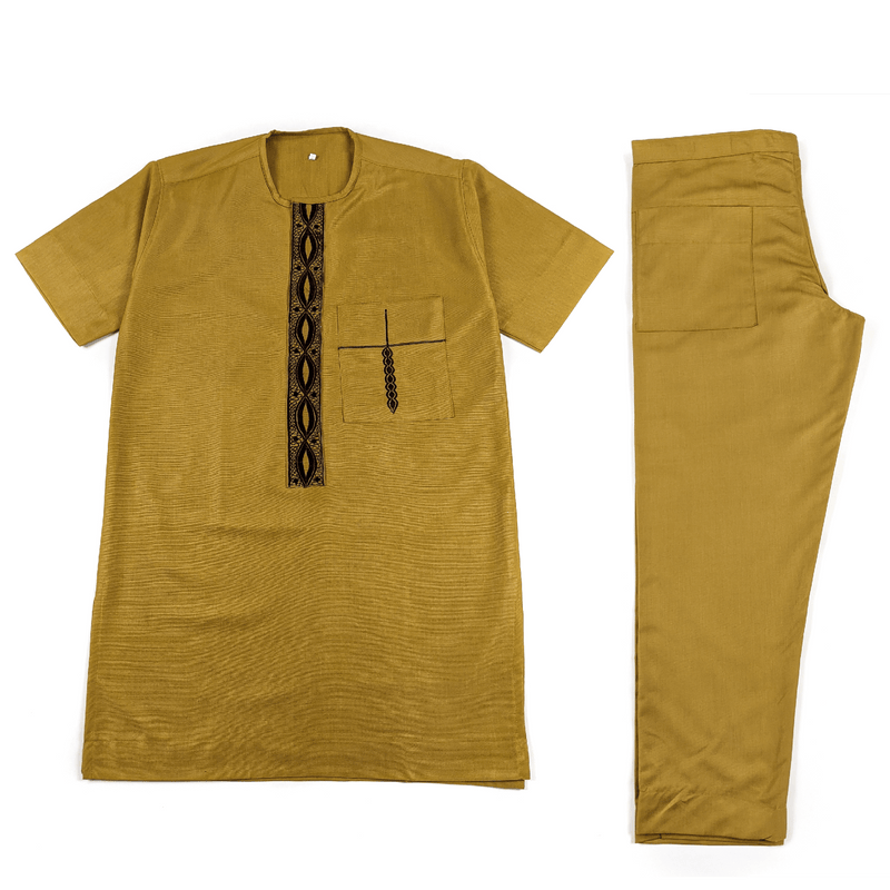Brown Short Sleeve Set